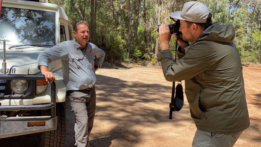 filmen in westaustralien für youtube